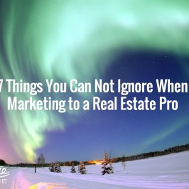 7 Things You Can Not Ignore When Marketing to a Real Estate Pro